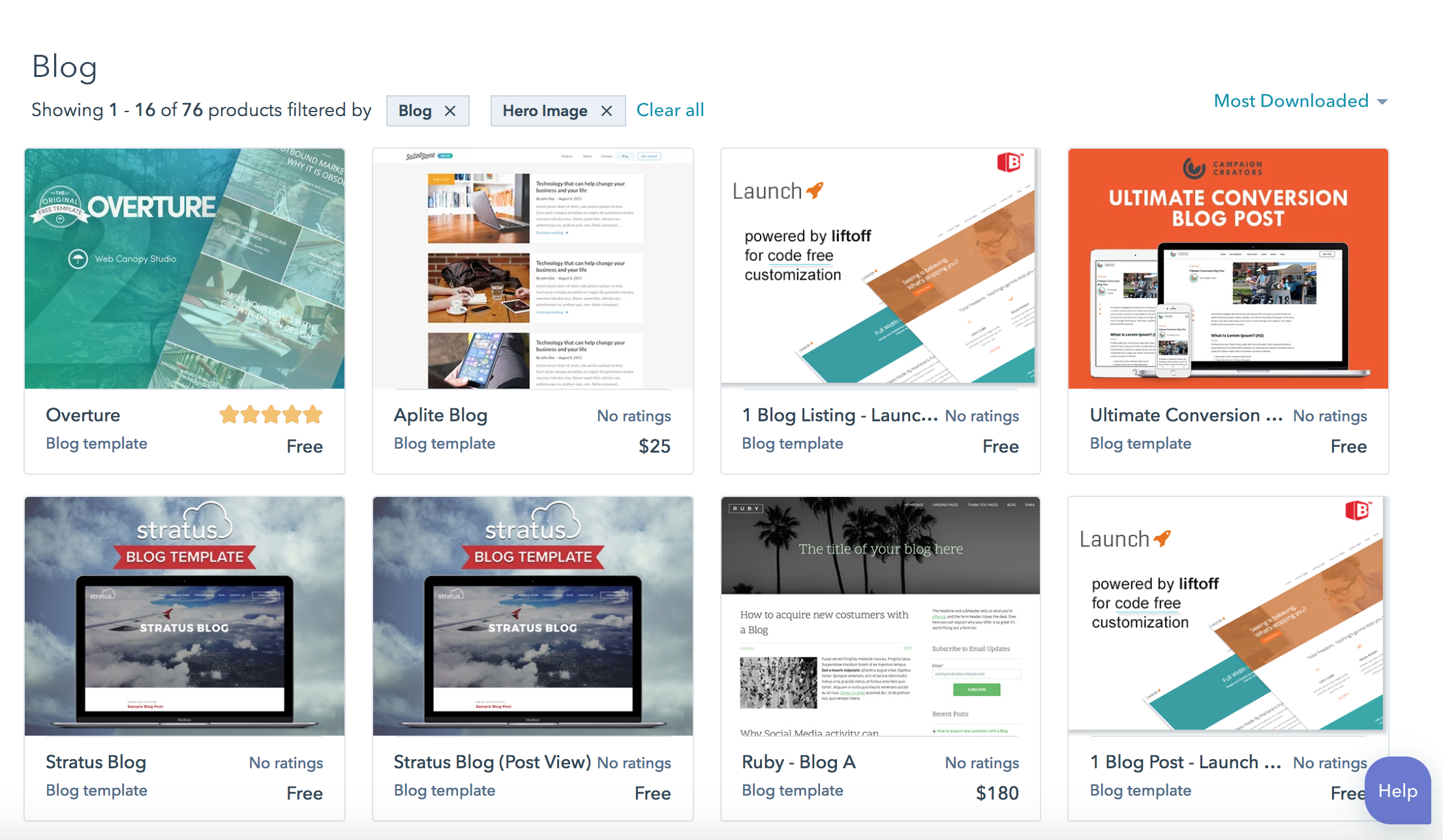 blog template marketplace