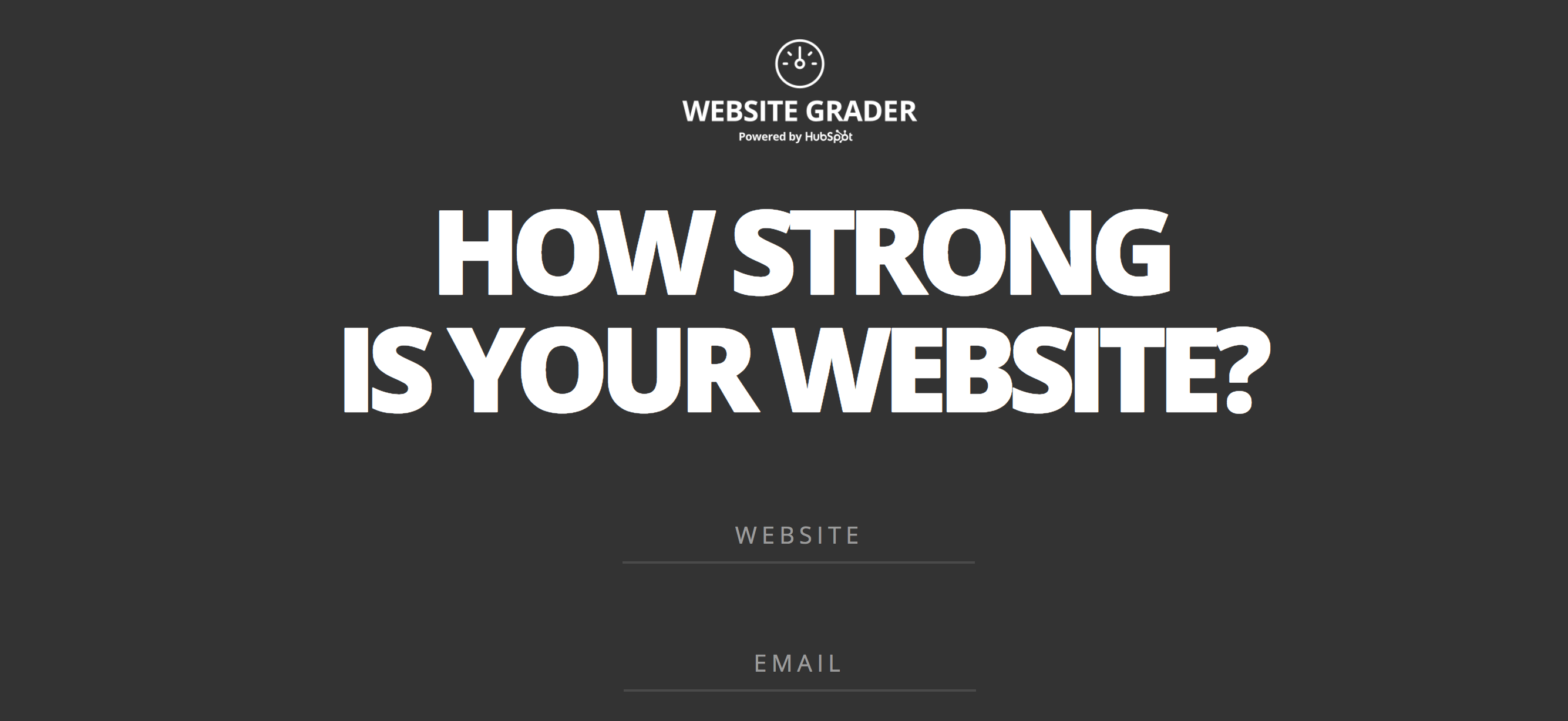 how strong is your website